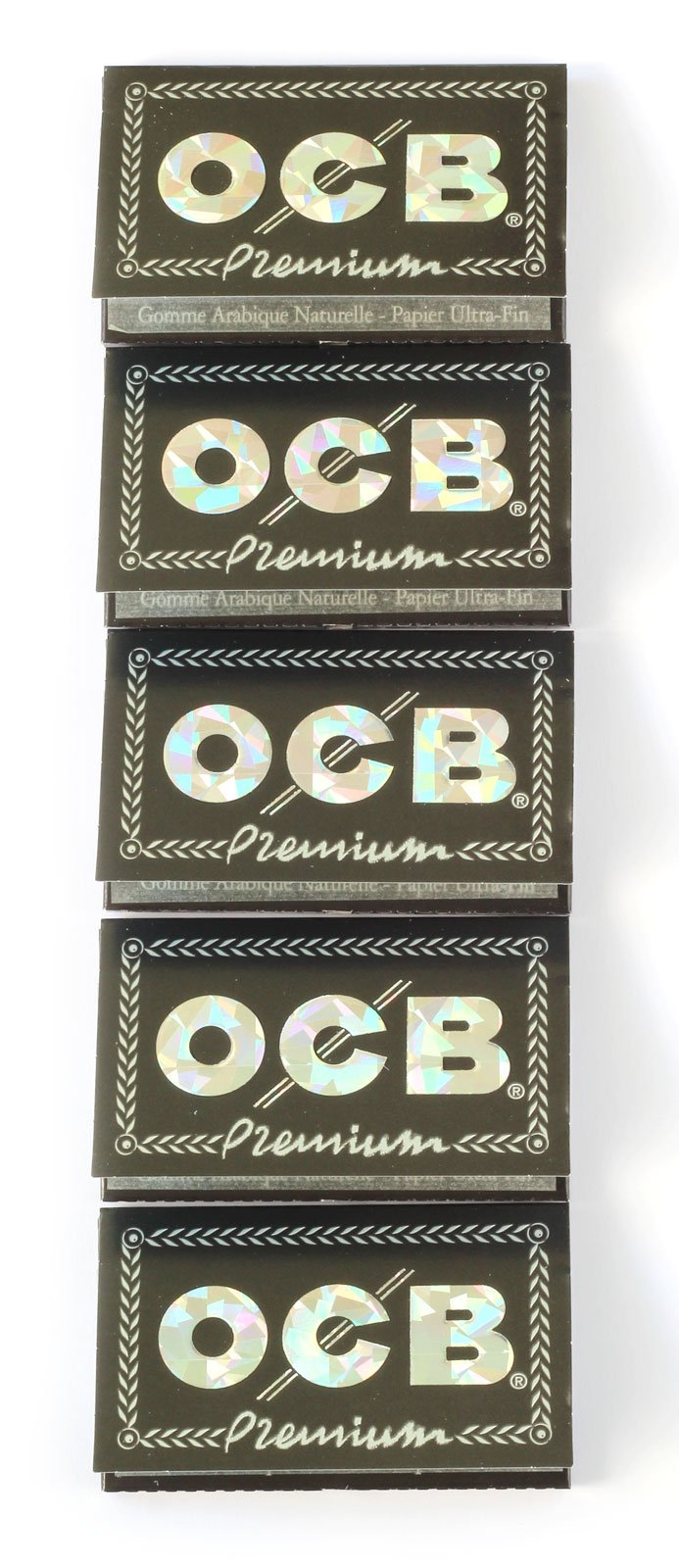 5 booklets x OCB Premium Black Double Rolling Paper - 500 Papers