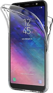 AICEK Funda Samsung Galaxy A6 2018, Transparente Silicona 360°Full Body Fundas para Samsung A6 2018 Carcasa Silicona Funda Case (5,6 Pulgadas): Amazon.es: Electrónica