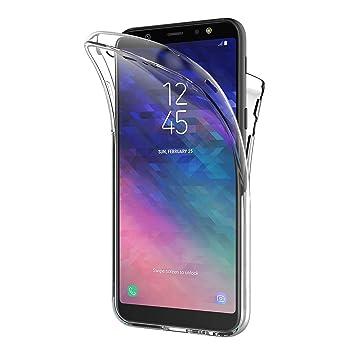 AICEK Funda Samsung Galaxy A6 2018, Transparente Silicona 360°Full Body Fundas para Samsung A6 2018 Carcasa Silicona Funda Case (5,6 Pulgadas)