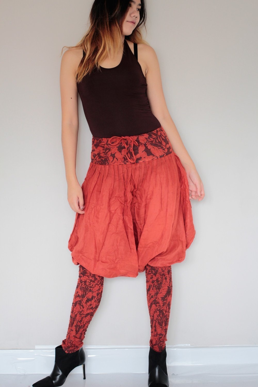 Hippie Pants Rose red (S-M)