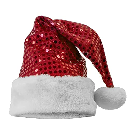 f6e3bb38cd81fc Amazon.com: Sequin Santa Hat, Red: Clothing