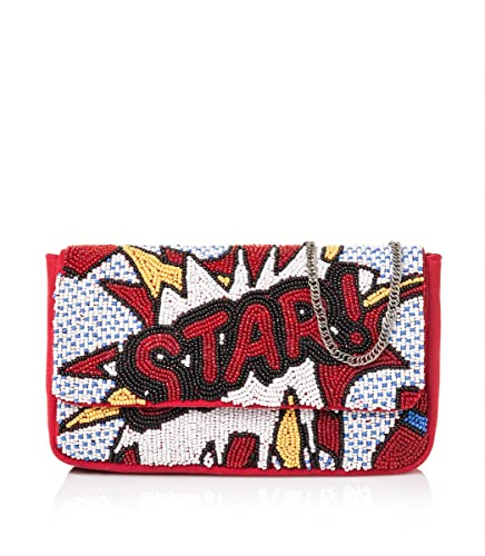 STARLITE Bolso de mano Stars, Sacs portés main femme, (Red), 3.5x16.5x26 cm (W x H L)