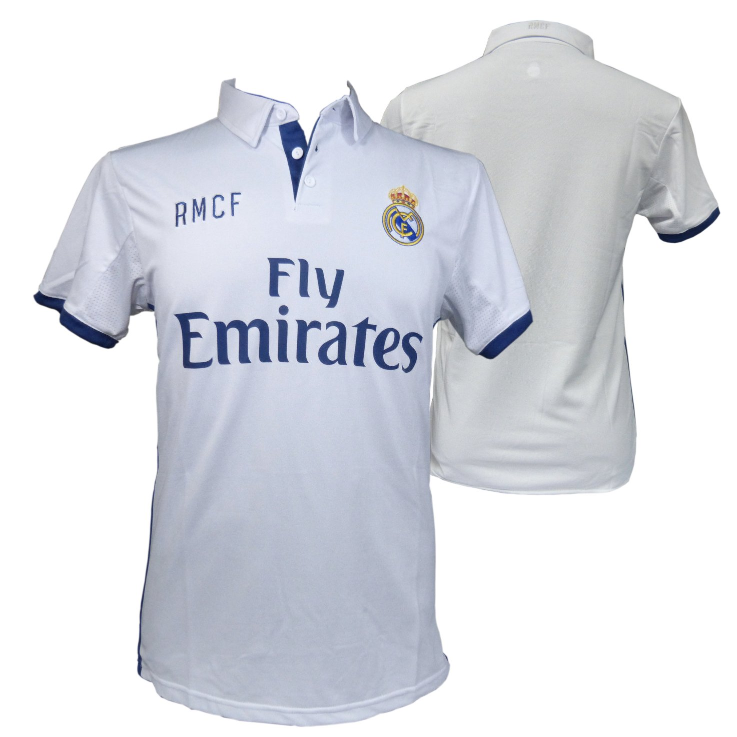CAMISETA 1ª EQUIPACION REPLICA OFICIAL REAL MADRID 2016-2017 LISO ADULTO (XL): Amazon.es: Deportes y aire libre