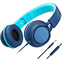 AILIHEN C8 (Upgraded) Headphones with Microphone and Volume Control Folding Lightweight Headset for Cellphones Tablets…
