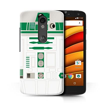 STUFF4 Phone Case / Cover for Motorola Droid Turbo 2 / Green R2 Unit Design /