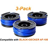"""BESTTRENDY 40ft 0.065"""" Spool for BLACK&DECKER String Trimmers (Replacement Autofeed Spool), 3-Pack (Compatible with AF-100)"""