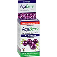 Natrol AcaiBerry - 1000 mg - 75 Vegetarian capsules - The Ultimate Super Fruit - Rain Forest Safe