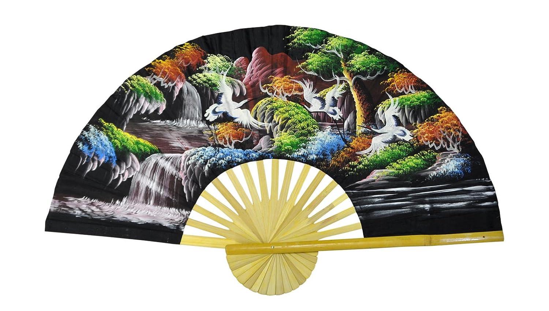 Decorazione murale, ventaglio 100 cm di larghezza fa mano e importato Tailandia (80072)
