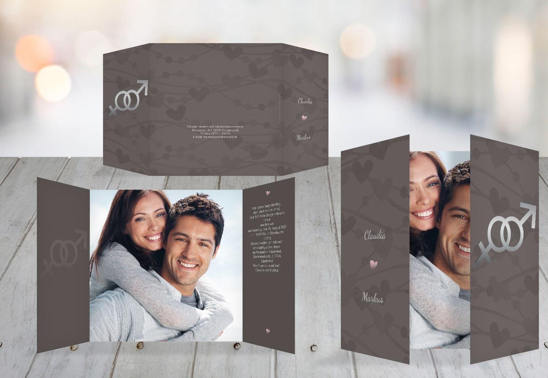 Kartenparadies Hochzeitskarte Einladung Im Zeichen der Liebe, hochwertige Einladung zur Heirat inklusive Umschläge   10 Karten - (Format  145x145 mm) Farbe  DunkeltiefBlau B01N24JLY5 | Ich kann es nicht ablegen  | Lassen Sie unsere Produkte in die W
