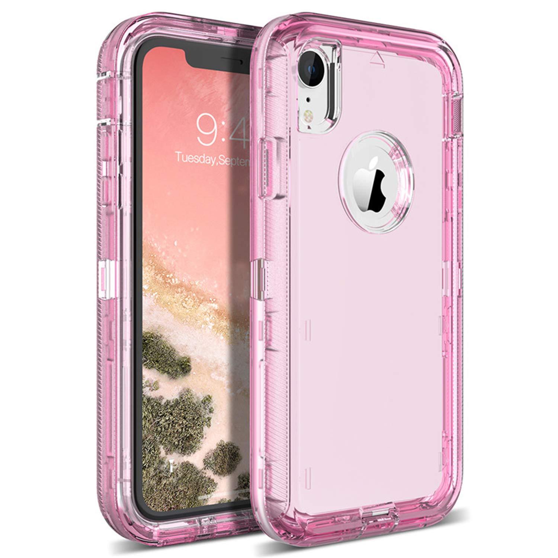 quality design 45a06 ba01e Amazon.com: Hard Case for iPhone 7 6 6S Plus X Xs Max 360 Case Clear ...