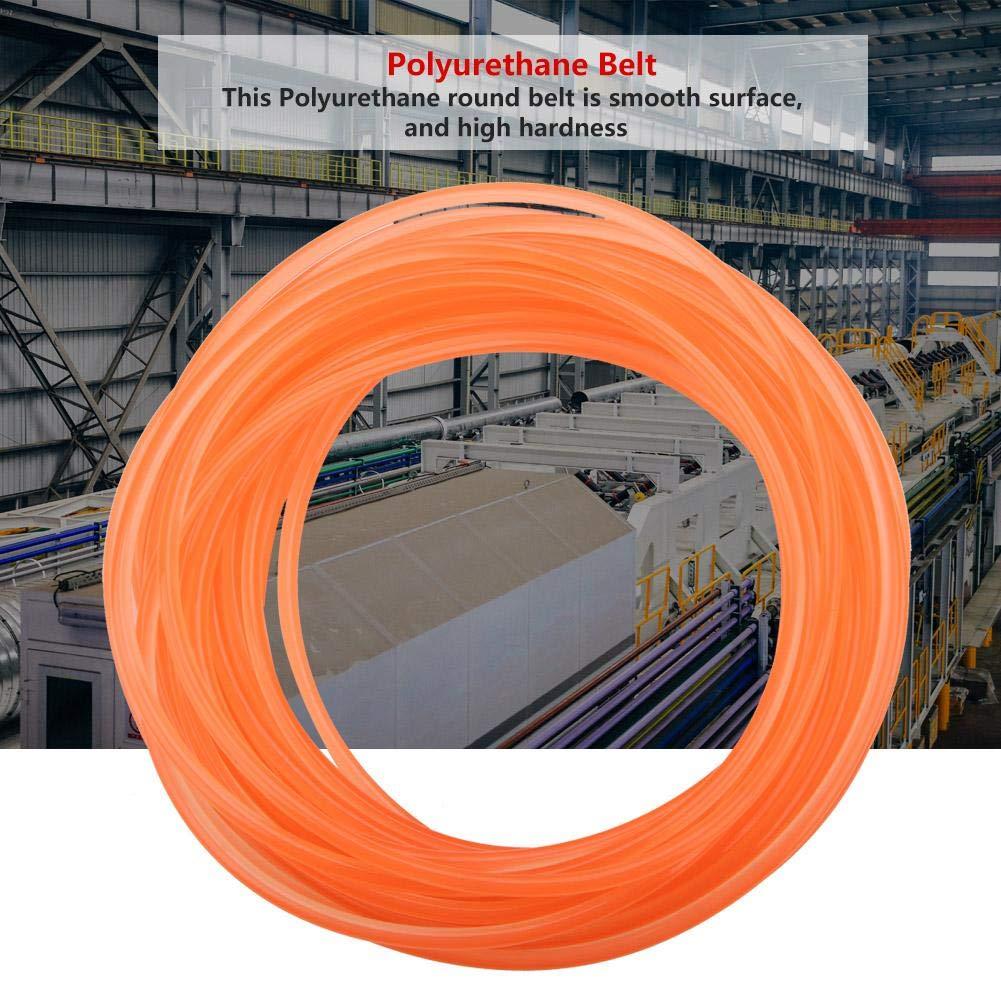 8mm/×5m High-Performance Polyurethane Belt Orange Smooth Surface PU Polyurethane Round Belt for Drive Transmission 2mm 3mm 4mm 5mm 6mm 8mm 10mm 12mm 15mm