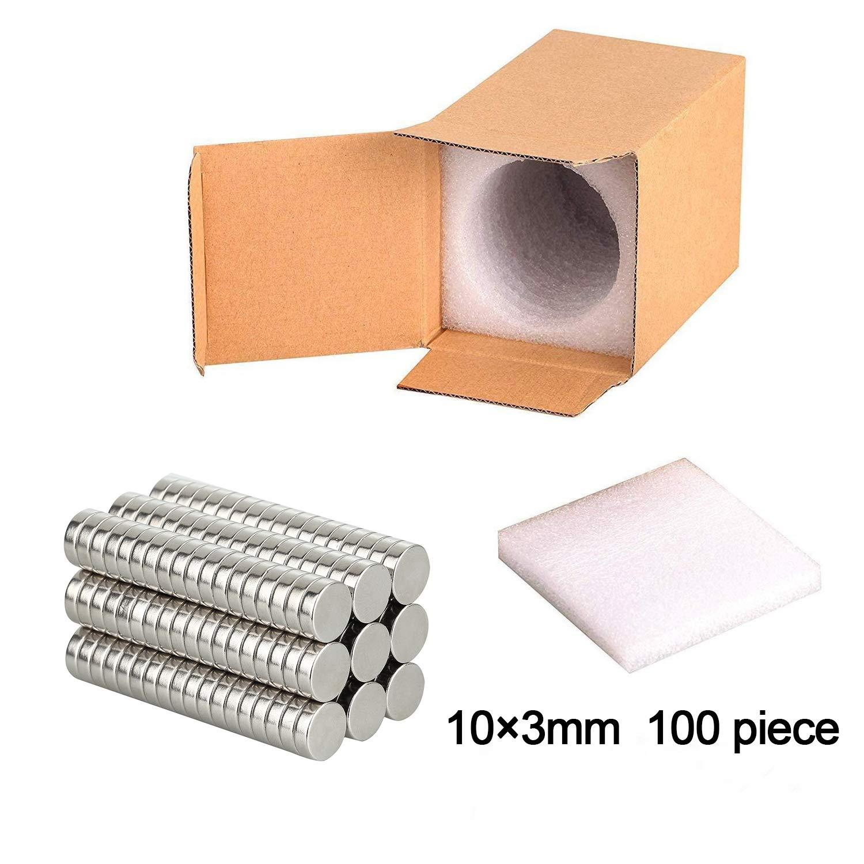 Wukong 100 Pezzi 10x3mm Magneti per Frigorifero Forte Presa Magnetica Calamite per Lavagna