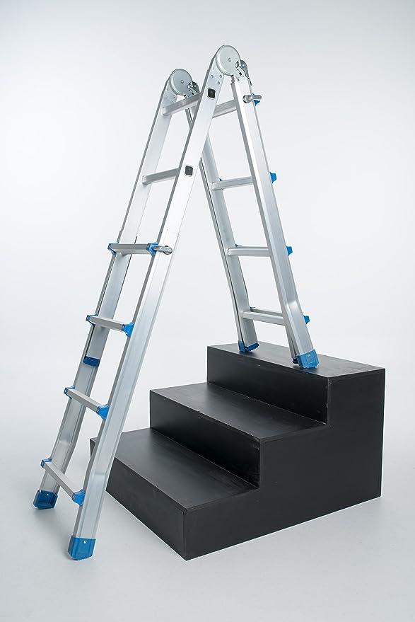 WORHAN® Escalera 414cm Aluminio Telescopica 4.14m Multifuncion Multiuso Aluminio Plegable Tijera L4: Amazon.es: Bricolaje y herramientas