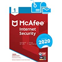 McAfee Internet Security 2019 - Antivirus, PC/Mac/Android/Smartphones, 1