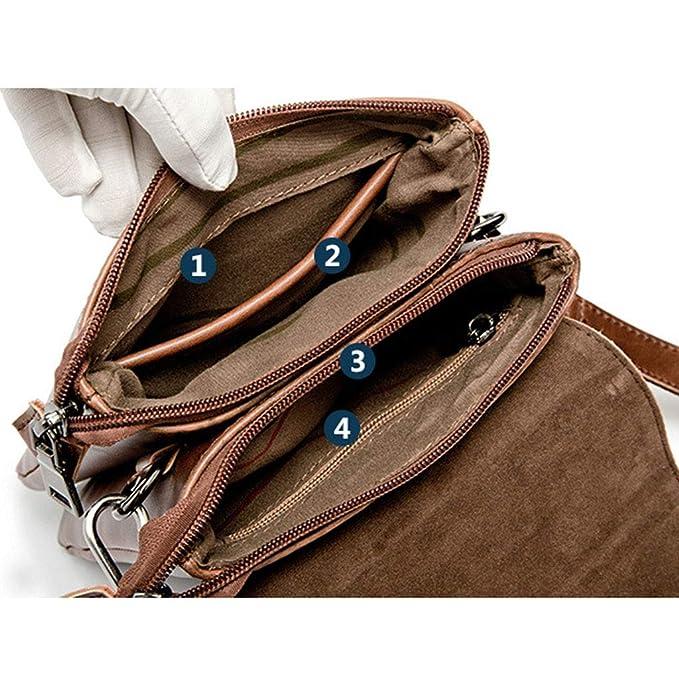 dbc845bd9a53 Amazon.com: Lamdoo Men Leather Messenger Bag Tote Shoulder Fashion ...