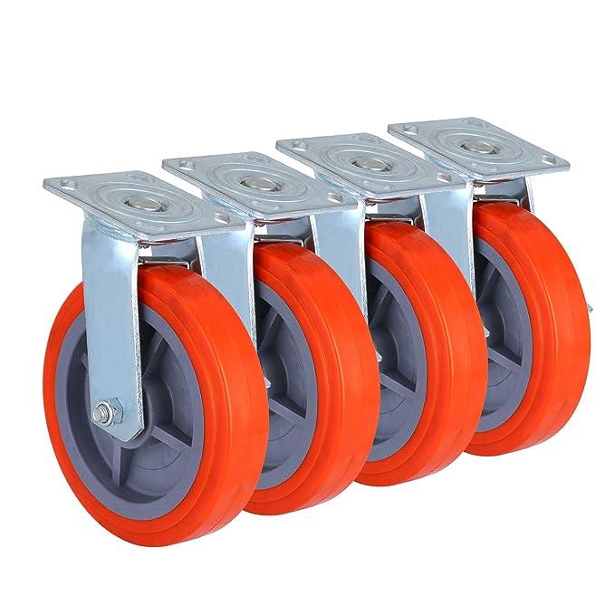 succebuy Juego de 4 ruedas andamios 800lbs andamios andamio ruedas Caster Rueda con freno Lock: Amazon.es: Bricolaje y herramientas