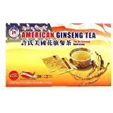 Hsu's Ginseng SKU 1034 | American Ginseng Tea, 20ct | Cultivated American Ginseng from Marathon County, Wisconsin USA | 许氏花旗参茶 | 20ct Box,西洋参, B000153R40