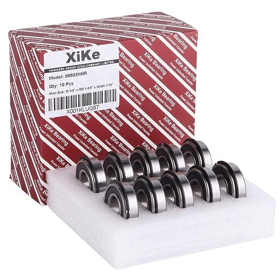 "XiKe 4 Pack 99502HNR Ball Bearing ID 5//8/"" x OD 1-3//8/"" x Width 7//16/"" Double Seal"