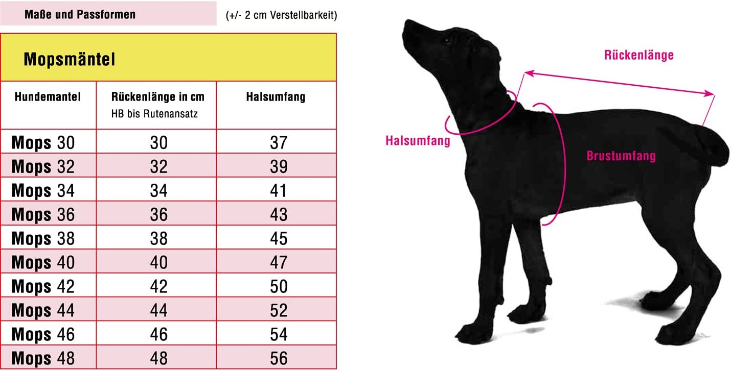 44 cm Wolters Cat/&Dog 49726 Outdoorjacke Jack f/ür Mops/&Co braun