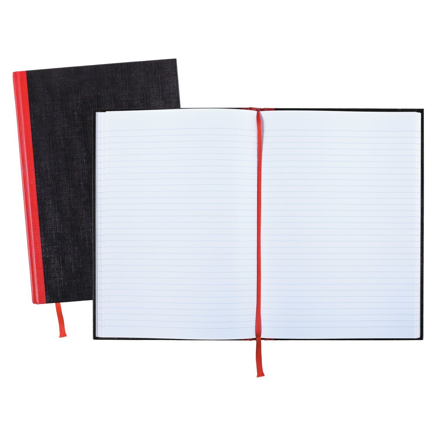Black n' Red Hardcover Executive Notebook, 11.75 x 8.25 Inches, Black, 96 sheets/192 pages, 3 Pack