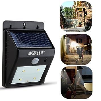 AGPTEK® Foco Solar Luz LED Inalámbrico con Sensor de Movimiento para Exteriores Incluyendo Patio,