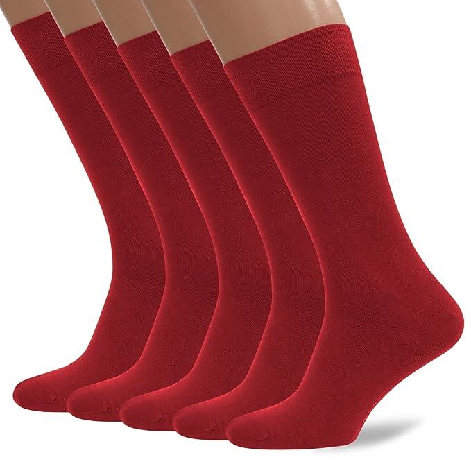 7827ae0df0e3 5 Pack Men's Ultra Thin Breathable Cotton Dress Socks: Black, Brown, Dark  Blue, Dark Gray, Cherry at Amazon Men's Clothing store: