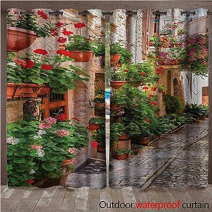 Amazon.com: Cortina con ojales italianos, diseño de paisaje ...