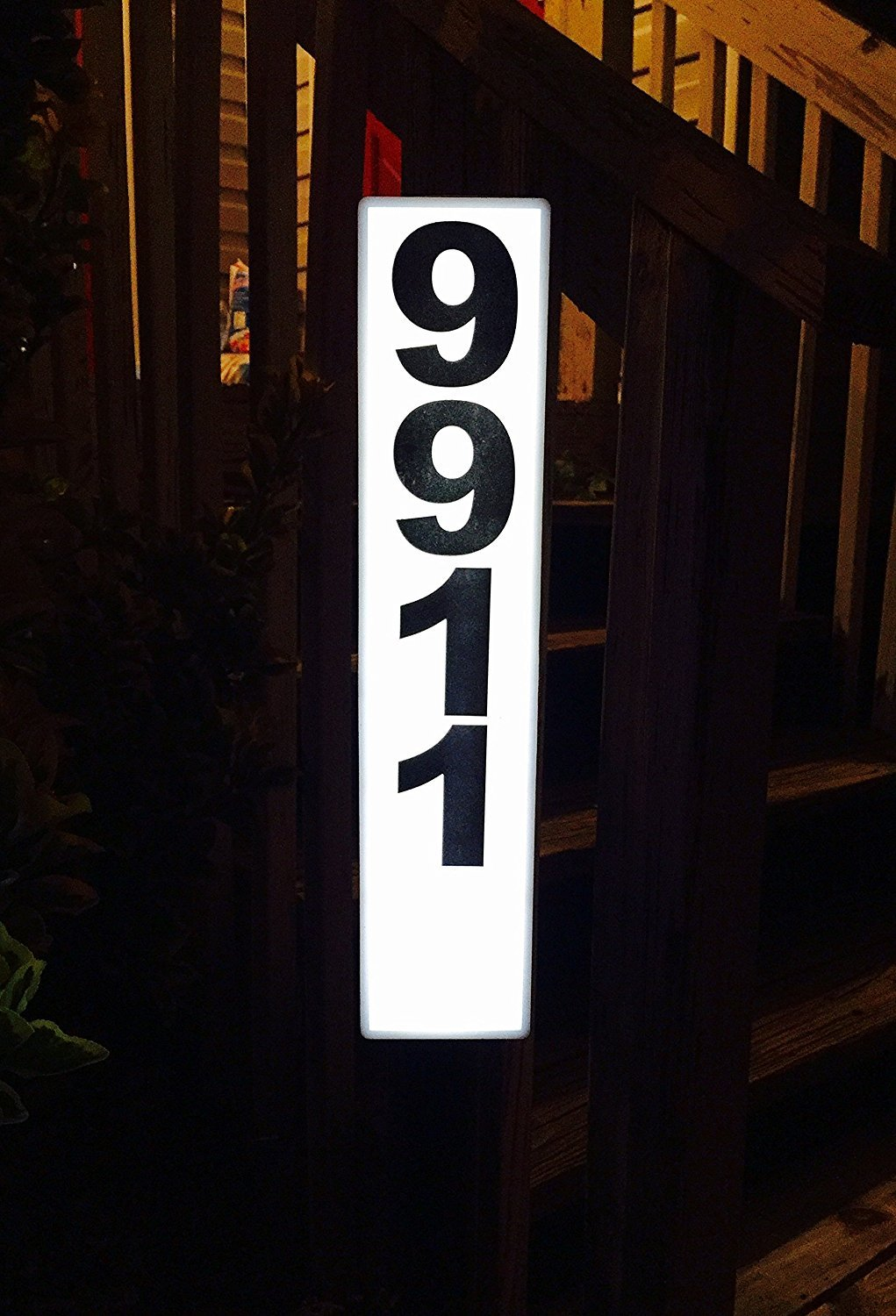 Vitco Solar Lighted Address Sign - Bright Custom House Plaque to help Emergency Vehicles and Visitors locate your home SAM-1