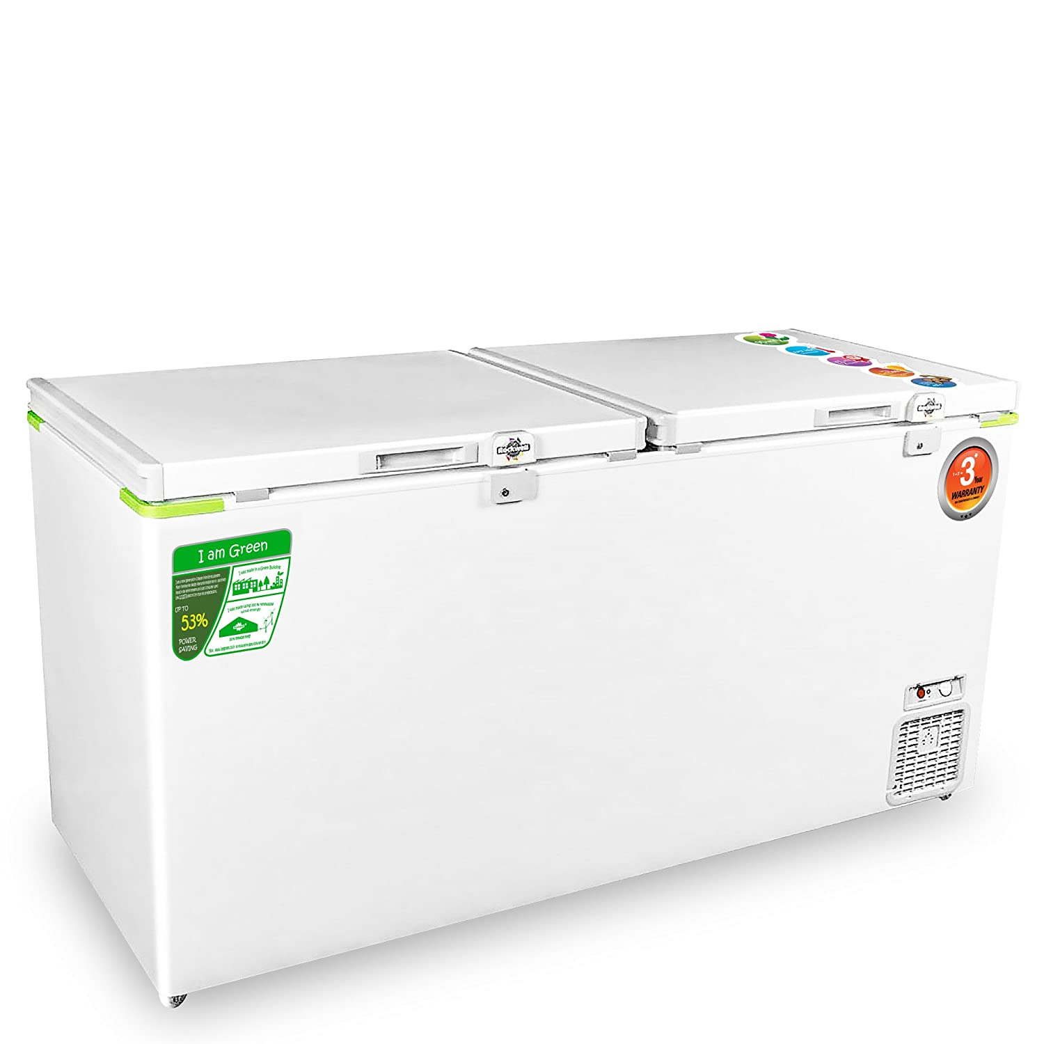 Rockwell Double Door Eutectic Green Freezer 550 Liters.
