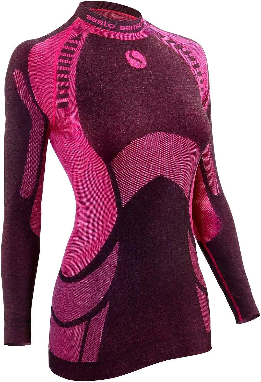 Sesto Senso/® Damen Funktionsunterw/äsche Shirt Langarmes Top Unterhemd Schnelltrocknend Funktionsshirt Skiunterw/äsche Skibekleidung Sportbekleidung Fahrrad Motor THERMOACTIVE