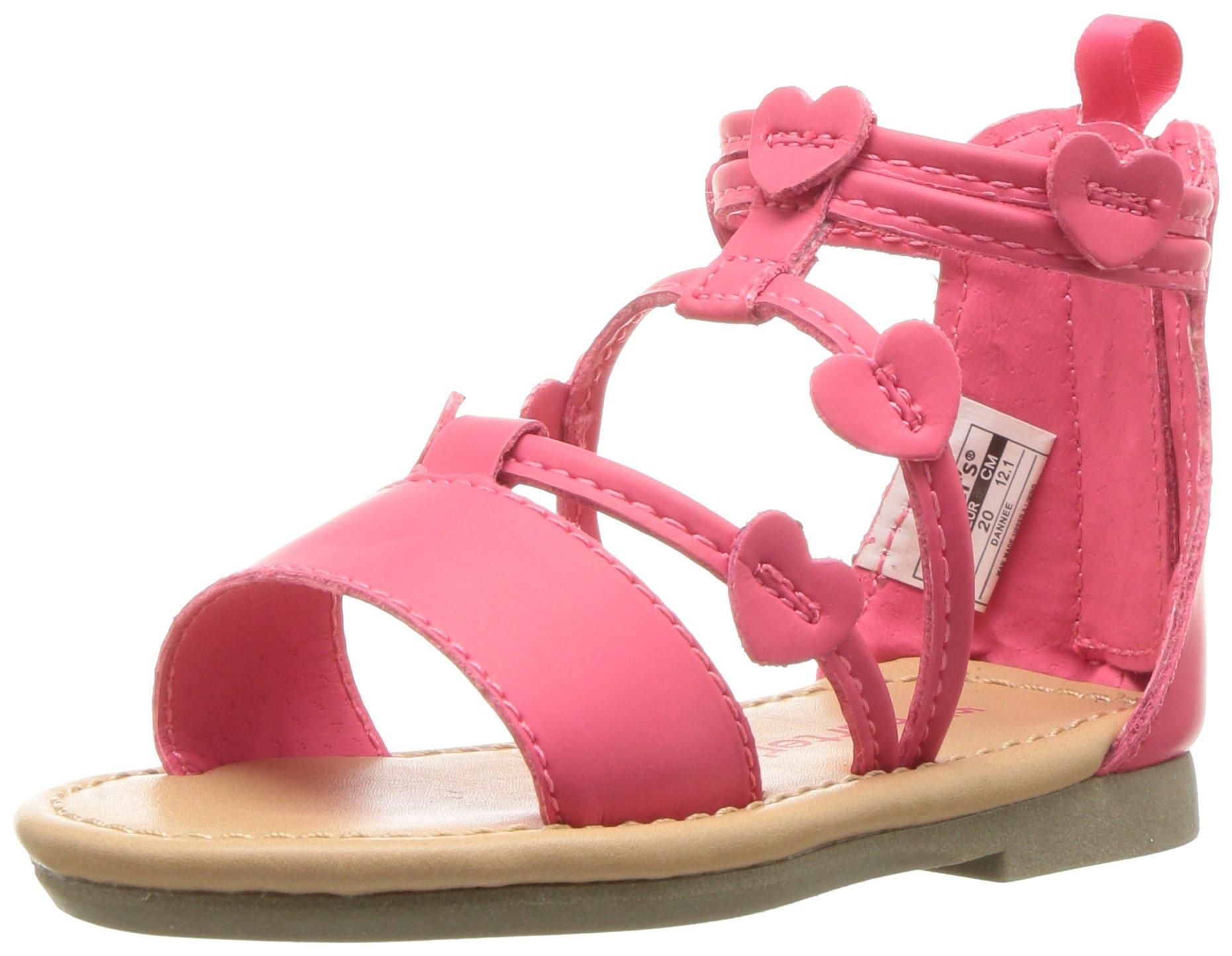 Carter's Girls' Dannee Fashion Sandal, Pink, 9 M US Toddler