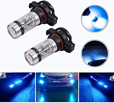 LED Kit X3 50W 9005 HB3 8000K Icy Blue Two Bulbs Light DRL Daytime Replacement