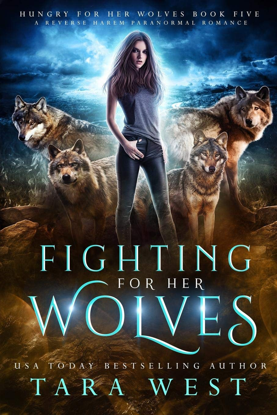 Amazon Com Fighting For Her Wolves A Reverse Harem Paranormal Romance Hungry For Her Wolves 9781081773175 West Tara Books