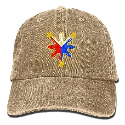 BEMYSELF Unisex Adult Philippines Pride Star Flag Sun Washed Denim Cotton  Sport Outdoor Baseball Hat Trucker 1e0ef04131cf