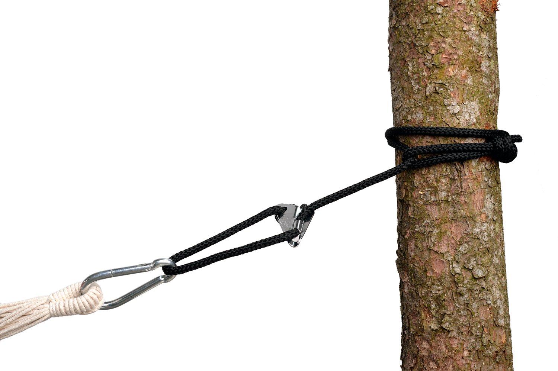 AMAZONAS Smartrope Black wasserfeste verstellbare Aufhängung für Hängematten und Hängesessel 320 cm bis 150 kg pro Seil schwarz AZ-3025001