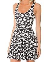 Froomer Women Galaxy Dress Adventure Time Sleeveless Dress Skater S-2XL Clubwear