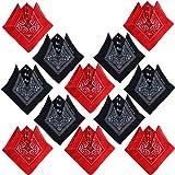 12 pcs Bandana Foulard Original Paisley 100% Coton Multicolore Env.55cm*55cm