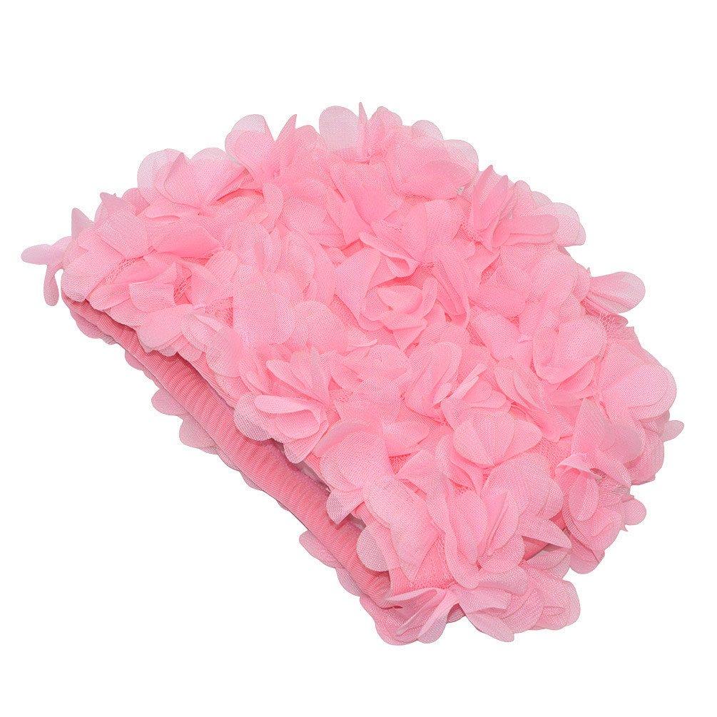 rosa medifier encaje Vintage gorro de ba/ño floral petal Retro estilo gorros de ba/ño para mujer rosa