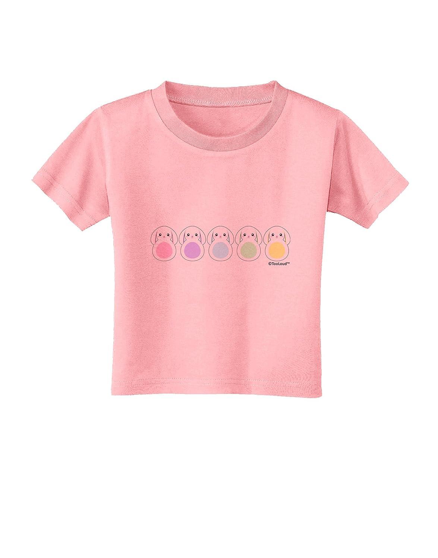 TooLoud Cute Pastel Bunnies Toddler T-Shirt