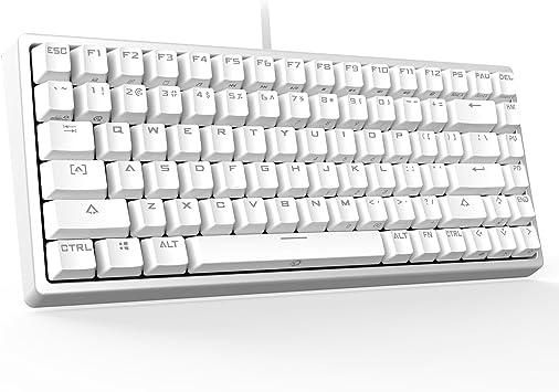 DREVO Gramr 84 Teclas Tenkeyless Teclado Mecánico Gaming retroiluminado Blanco US Layout Switch Negro
