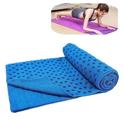 ZSZBACE Toalla Hot Yoga Mat Antideslizante Manta con Los ...