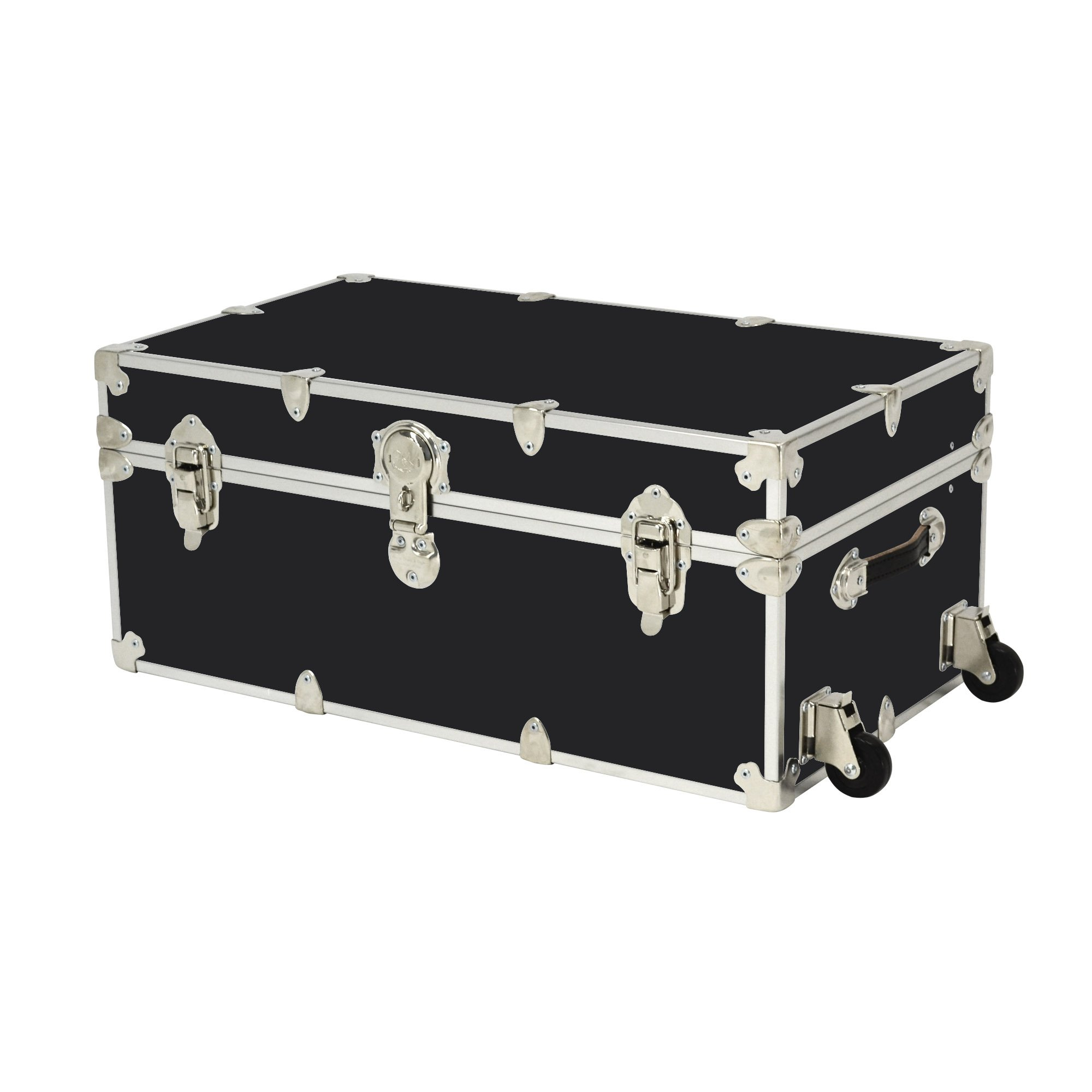 Rhino Trunk and Case Large Armor Trunk with Wheels, 32'' x 18'' x 14'', Black by Rhino Trunk and Case