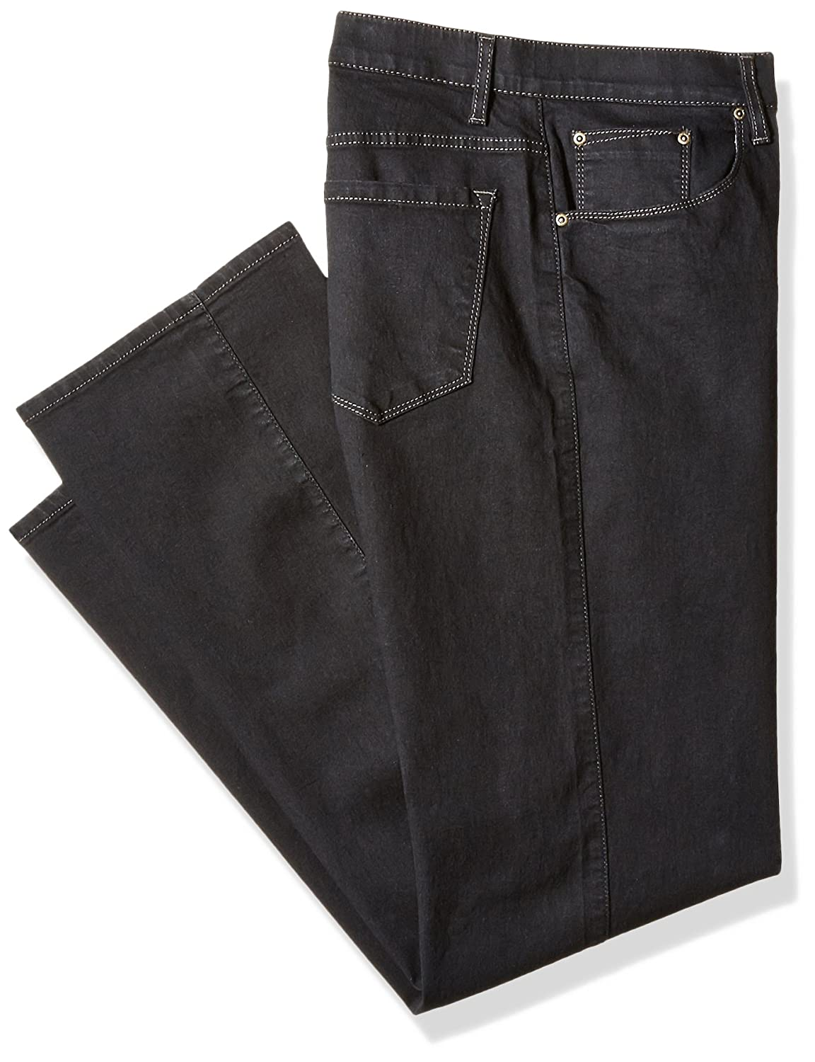 Savane Men's Big and Tall Active-Flex Black Rinse Stretch-Denim Jean Savane Men' s Bottoms SWBS60A3