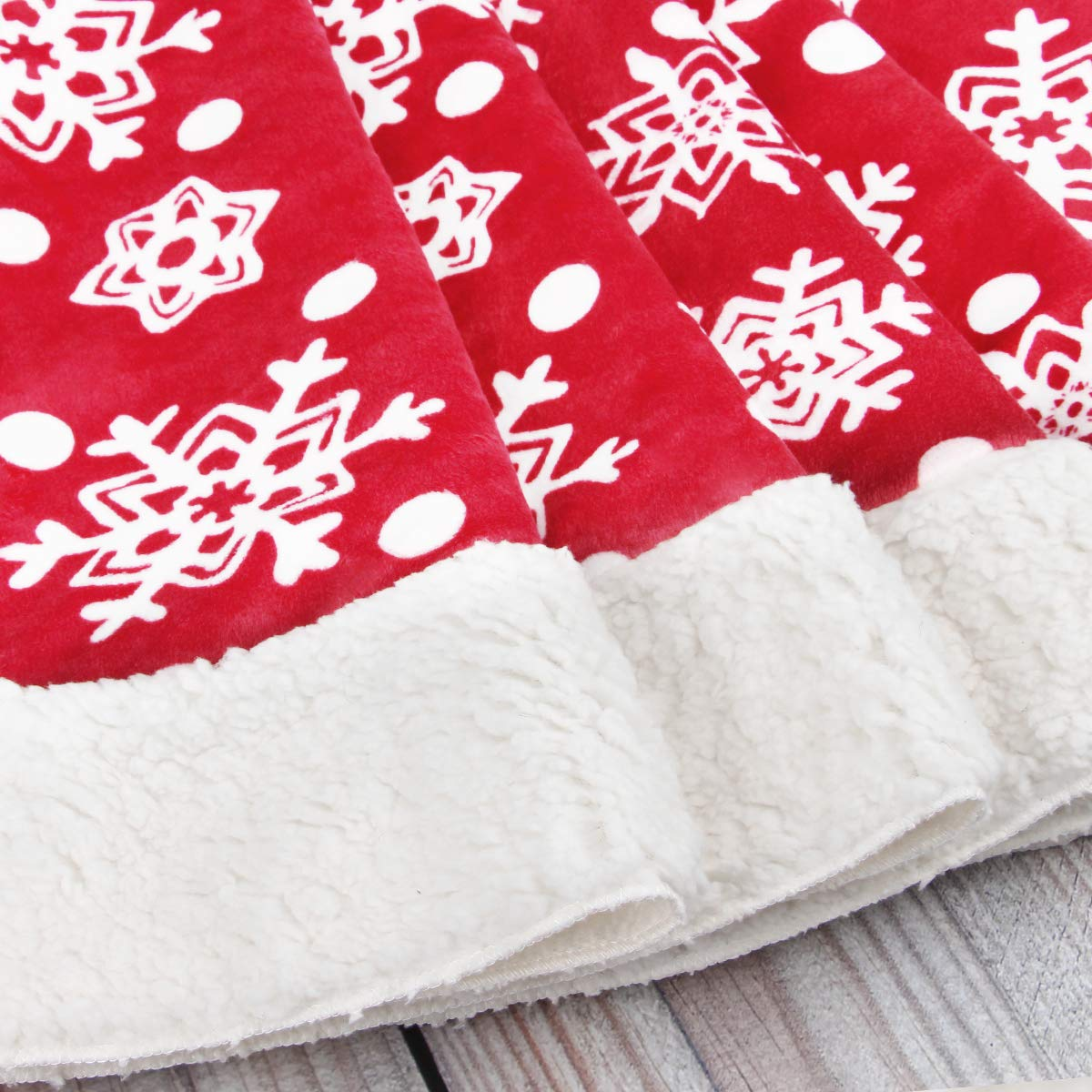 Aitey Christmas Tree Skirt 48 Luxury Velvet Snowflake Tree Skirt for Xmas Party Decor Festive Holiday Ornaments Indoor Outdoor