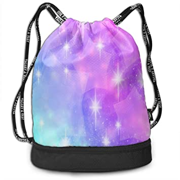 b509898057 Image Unavailable. Image not available for. Color  Drawstring Bag Purple  Sparkle Star Womens ...