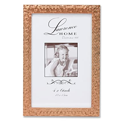 Amazon.com - Lawrence Frames Rose Shimmer Metal Picture Frame, 4 by ...