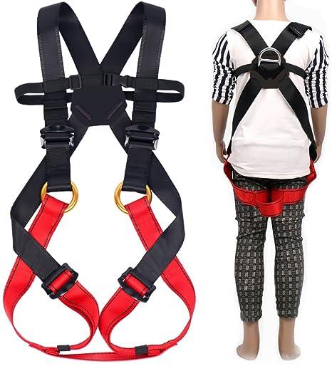Amazon.com : Kids' Climbing Full Harness Safe Belts Guide ...
