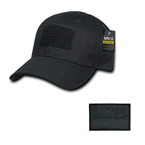 RAPDOM Genuine Tactical Constructed Ball Operator Cap Black Caps with Free  Patch (Black 1e3f0e5ae46