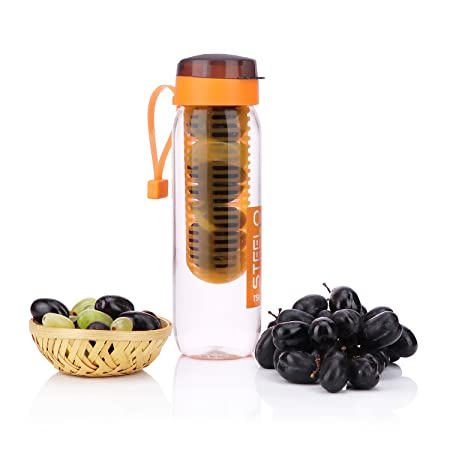 steelo 750ml x 1 pcs sante infuser water bottle  orange ,