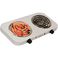 ORBON Double Ivory 1250 W + 1250 W with Thermostat G Coil Stove Hot Plate Induction Cooktop/Cookers